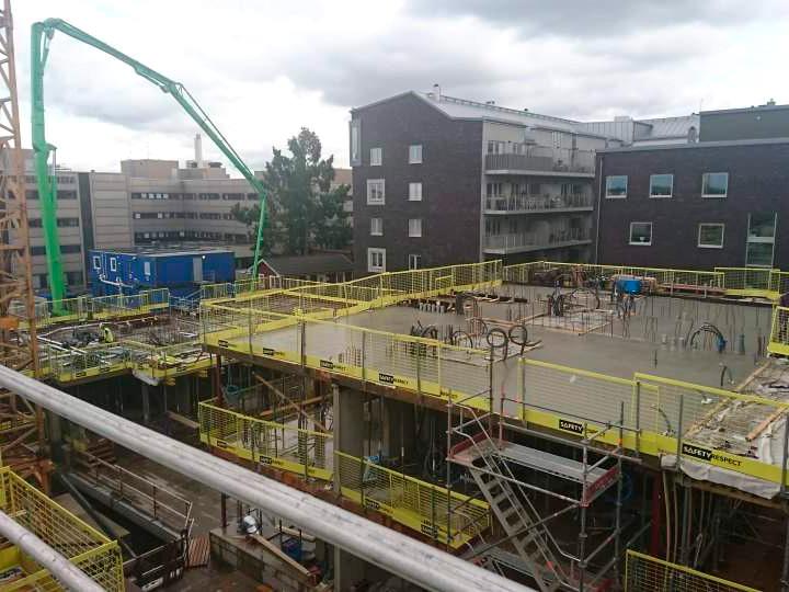 Mätpartner utförde geodetisk mätning på kvarteret Stinsen i Norrköping på uppdrag av NCC.