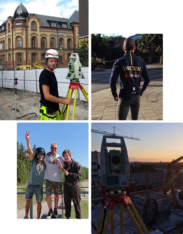 Fyra bilder från våra arbetsdagar och roliga aktiviteter tillsammans
